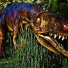 Dinosaur in Reeds by artstoreroom