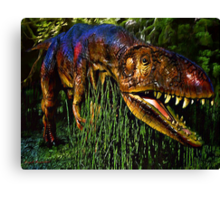 Dinosaur in Reeds Canvas Print