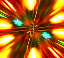 Christmas Light Abstract by Steve Purnell