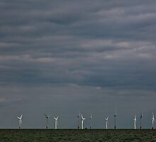 Wind Farm at Scratby sands by Gary Rayner