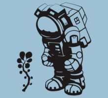 Starlit Astronaut in Black - Kids version by Tikipod