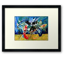 Insects and Birds Framed Print