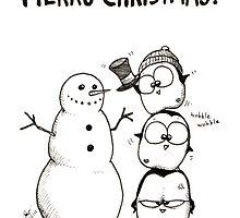 1 Snowman, 3 Fat Penguins by afatpenguinshop