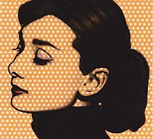 Audrey Hepurn on White Polka Dots  by ricardogarcia1