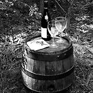 Vintage Wine Barrel by Maggie Hegarty