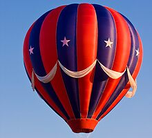 Red, White, and Blue Balloon by Ken  Hurst