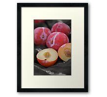 Plums Framed Print