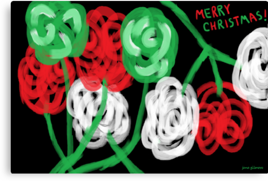 Christmas Roses, the Card by Jana Gilmore