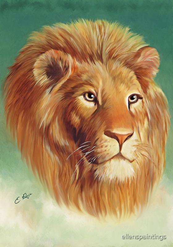 The King of the Jungle by ellenspaintings