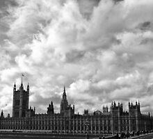 Palace of Westminster - B&W by Ólafur Már Sigurðsson