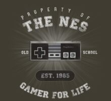 Property of the NES - Athletic Style Shirt - Light by thehookshot