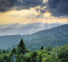 August Rays - Blue Ridge Mountains Landscape by Dave Allen