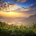 Highlands Sunrise - Whitesides Mountain Landscape by Dave Allen
