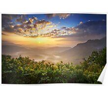 Highlands Sunrise - Whitesides Mountain Landscape Poster