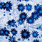 Mystical Daisies In Blue by Sandra Foster