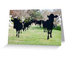 Black Cow Parade Greeting Card