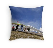 Waiting for Launch, Chabre Throw Pillow