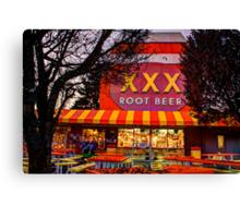 The XXX Root Beer Barrel Canvas Print