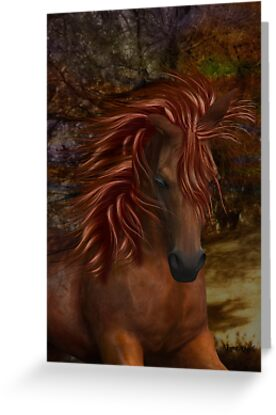 Flame .. A Wild Horse by LoneAngel
