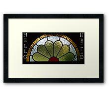 Bright Hello Framed Print