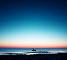 Fisher at peaceful sunrise by Bosniak