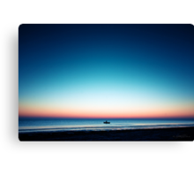 Fisher at peaceful sunrise Canvas Print