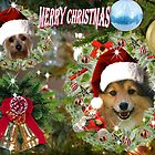 Doggy Christmas card by Rick  Friedle