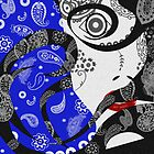 The Paisley Woman (blue) by creativenergy