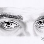 Robert Pattinson Eye Study by Emily Hitchcock