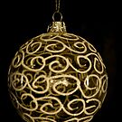 Glass Bauble (Gold) by Lou Wilson