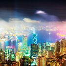 Hong Kong Night Lights by Paul Thompson Photography