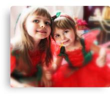 Fairy Girls -Santa's Helpers- Canvas Print