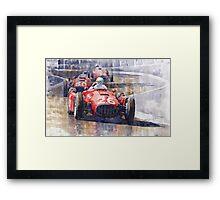 Lancia D50 Monaco GP 1955  Framed Print
