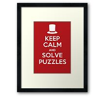 Keep Calm and Solve Puzzles Framed Print