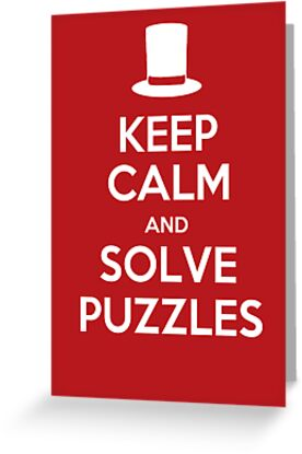 Keep Calm and Solve Puzzles by Jobboman
