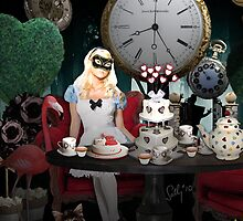 Alice In Wonderland Collage by Sally McLean