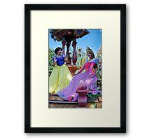 Snow White and Aurora Framed Print
