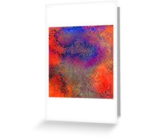 Blue spotted clouds Greeting Card