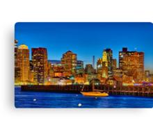Boston skyline- Piers Park View  Canvas Print