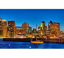 Boston skyline- Piers Park View  Photographic Print