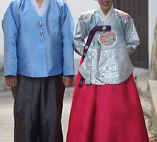 Korean Wedding Couple by Jane McDougall