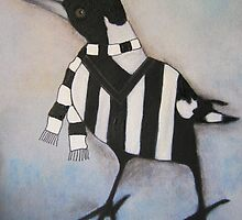Magpie Supporter by Julie  Sutherland