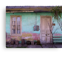 Frontis ...and a Poem Canvas Print