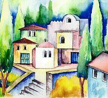 Atmosphere Impression Greece - Aquarel by RainbowArt