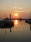 Port At Sunset by Vicki Spindler (VHS Photography)