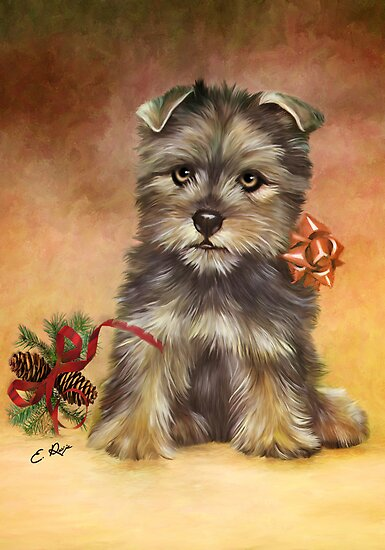 Christmas Doggy by ellenspaintings