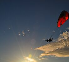 Power Paragliding  on a Summer Day by joevoz
