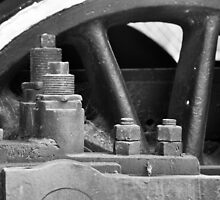 Close Up Train Wheel by joevoz