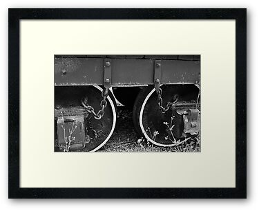 Two Coal Tender Wheels. by joevoz