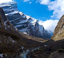 The Modi Khola, Annapurna Sanctuary by Mark Salkeld